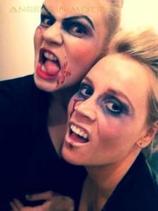 Zombie-Geister-Feuershow zur Geisternacht im Irrgarten Kleinwelka