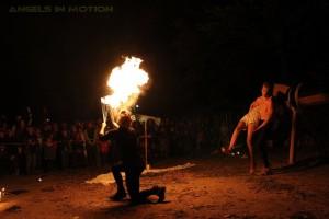 Feuershow Geisternacht Irrgarten Kleinwelka